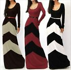 Women Casual Boho Striped Prom Ball Gown Evening Party Cocktail Beach Maxi Dress
