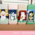 =Cat=Simple Life=Big Retro Pen Tin Box Pencil Case Metal Container Candy Storage