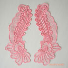 1 pair: Flourish Rose Embroidery Net Lace Collar Set applique trim craft