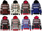 Womens Girls Aztec Print Long Sleeve Fleece Zip Hoody Hoodies