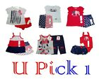 RED WHITE BLUE PATRIOTIC MEMORIAL LABOR DAY JULY 4TH FOURTH HOLIDAY GIRLS SHORTS