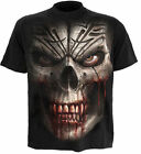 SPIRAL DIRECT SKULL SHOCK T SHIRT SKULL GOTH HORROR SKELETON DEATH MASK BIKER
