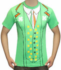 IRELAND IRISH FUNNY LEPRECHAUN T-SHIRT ST PATRICK'S DAY TRICOLOUR SUIT TIE JOKE