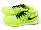 Nike Free 5.0 Lightweight Breathable Running Shoes Volt/Black-White 642198-702