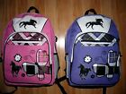 Girls HORSE backpack~Black Horses~Butterfly too~NWOT~Great Gift Idea~ColorChoice