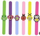 SILICONE SNAP WATCH BRACELET ANIMAL INSECT KIDS TOY REAL BOYS GIRLS CHILD'S NEW