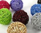 Rattan Wicker Cane 7cm Balls for table & florist decoration designs BUY QTY RQD