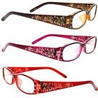 "READING GLASSES Women's ""BLOSSOM R122"" +1.25,+1.50,+2.00,+2.25 Purple,Red,Brown"