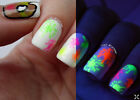 Neon Colour Shapes Studs Dots Stars Nail Art Decals Water Transfer Stickers