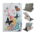 For 9-10.5 Tablet PC Stylish 360 Rotation Butterfly Printed Leather Case Cover