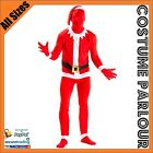 New Mens Womens Santa Skin Suit Zentai Suits Fancy Dress Costume All Sizes