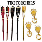 Reusable Garden Bamboo Tiki Torch Outdoor Party Lighting Lantern Patio Path Lamp