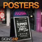 POSTER PRINTING for A-Board & Clip/Snap Frame - A0,A1,A2 etc. Pubs,Clubs & Bars