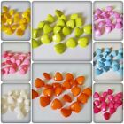20 x Shanked Acrylic Buttons - Faceted Hearts - 18mm [Various Colours]