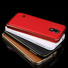New Luxury Handtailor Leather +Metal Case Cover for Samsung Galaxy S5 i9600