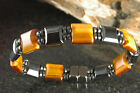 Double CLASPS TIGER'S EYE Magnetic BRACELET - ANY LENGTH NECKLACE SAME PRICE