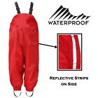 Kids Waterproof Breathable Dungarees Boys Girls Rainsuit Overall Casual Trousers