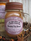 MASON JAR CANDLE W/RUSTY LID - 100% Soy Banana, Apple, Orange Rustic LARGE 13 oz