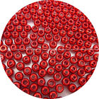 Pick Size / 100 Brass Beads, Fly Tying, Craft / Red Color