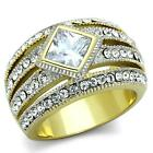 Women's Stainless Steel AAA Grade CZ Fashion Costume Jewelry Ring