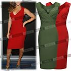 Women's Deep-V Neck Ruffles Sleeveless Fitted Evening Cocktail Formal Dress SMXL