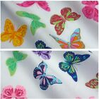White Polycotton Fabric with Multicoloured Butterflies - 2 Colourways *Per Metre