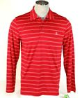 Izod PerformX Golf Moisture Wicking Red Long Sleeve Polo ...