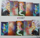 Trendy nail wraps, Mermaid, Fantasy, Abstract. Water transfer stickers. FREE P&P