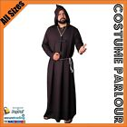 Mens Monk Friar Tuck Halloween Fancy Dress Costume All Sizes