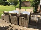 RATTAN CUBE SETS 6/10 SEATER  GARDEN DINING PATIO FURNITURE ALUMINIUM SET