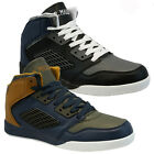 NEW MENS DESIGNER HI TOPS BASKETBALL TRAINERS SKATE ANKLE BOOTS PUMPS SHOES SIZE