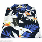 Relco Mens Hawaiian Short Sleeved Shirt 50's Aloha Retro Indie VTG Lily Flower