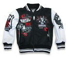Six Bunnies Metal Fan Wind Cheater Varsity Jacket Rockabilly Rock Tattoo Punk