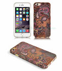 Brown Purple Paisley & Flower Vintage Back Case Cover for New iPhone 6S 6 5C 5 4