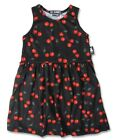 Six Bunnies Black Girls Dress with Red Cherries Tattoo Rockabilly PinUp Cherry