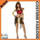 Womens Egyptian Warrior Princess Queen Of The Nile Long Fancy Dress Costume