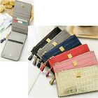 Cow Leather Woman Zipper Long Wallet Card Bill Wallet Women Wallets 3190I