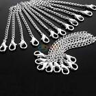 Vintage Women Silver Plated Color For Necklace Chain Extender + Lobster Clasp DB