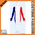 French Flag Full Body Zentai Second Skin Suit France Fancy Dress Costume Unisex