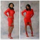 Red Sexy Bodycon Dress. . Sizes Small Medium Large.
