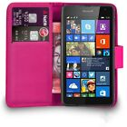 Flip Wallet Leather Case Cover For Nokia Microsoft Lumia 640 + Free Screen Guard