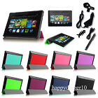 For 2013 Amazon Kindle Fire HD 7 3rd Gen Slim SmartShell Case Stand Cover Bundle