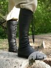 "Medieval Footwear , Medieval Fantasy High Boots ""Forest"""
