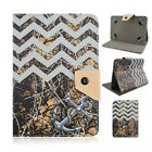 """Fold Camo Branch Mossy Oak Tree Sea Wavy Leather Stand Case Cover For 7"""" Tablet"""
