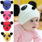 New Colorful Baby Girl Boy Kids Panda Hat Knit Winter Warm Crochet Cap HC