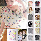Hot Newest women summer t-shirt chiffon batwing dolman casual tops blouse