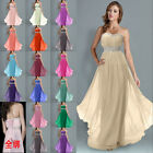 2015 Bridesmaid Dresses Long Evening Chiffon Wedding Gown Party Prom Ball 6-26
