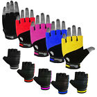 Leather Cycling Gloves Fingerless Cycling Mitts Cycle Bicyle Gloves Towel Back