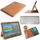 """Genuine Leather Case Cover+Keyboard For Samsung Galaxy Tab S 10.5"""" T800 8.4""""T700"""