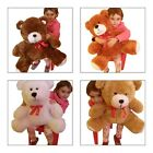 LARGE BIG SOFT CUDDLY TEDDY BEAR BROWN / WHITE / BEIGE/ GINGER